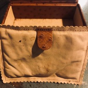 Accessories - Vintage 1950s Ostrich Calf Leather Travel Case
